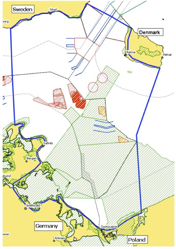 Pilot area - Pomeranian Bight / Arkona Basin (Source: BaltSeaPlan Report No. 29)