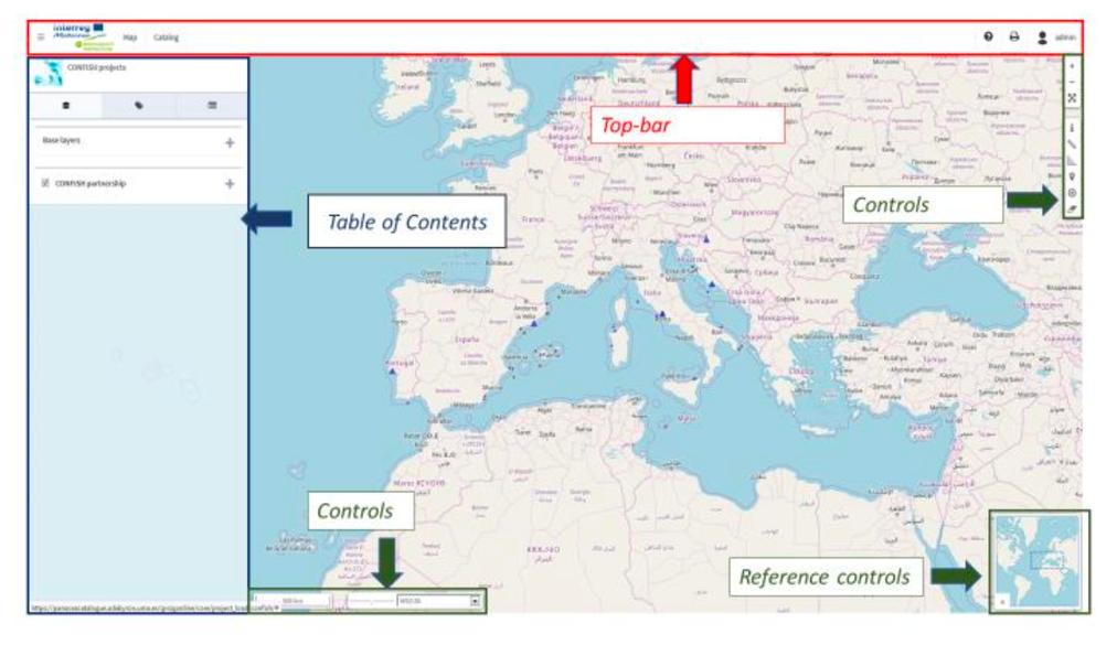 Map viewer interface