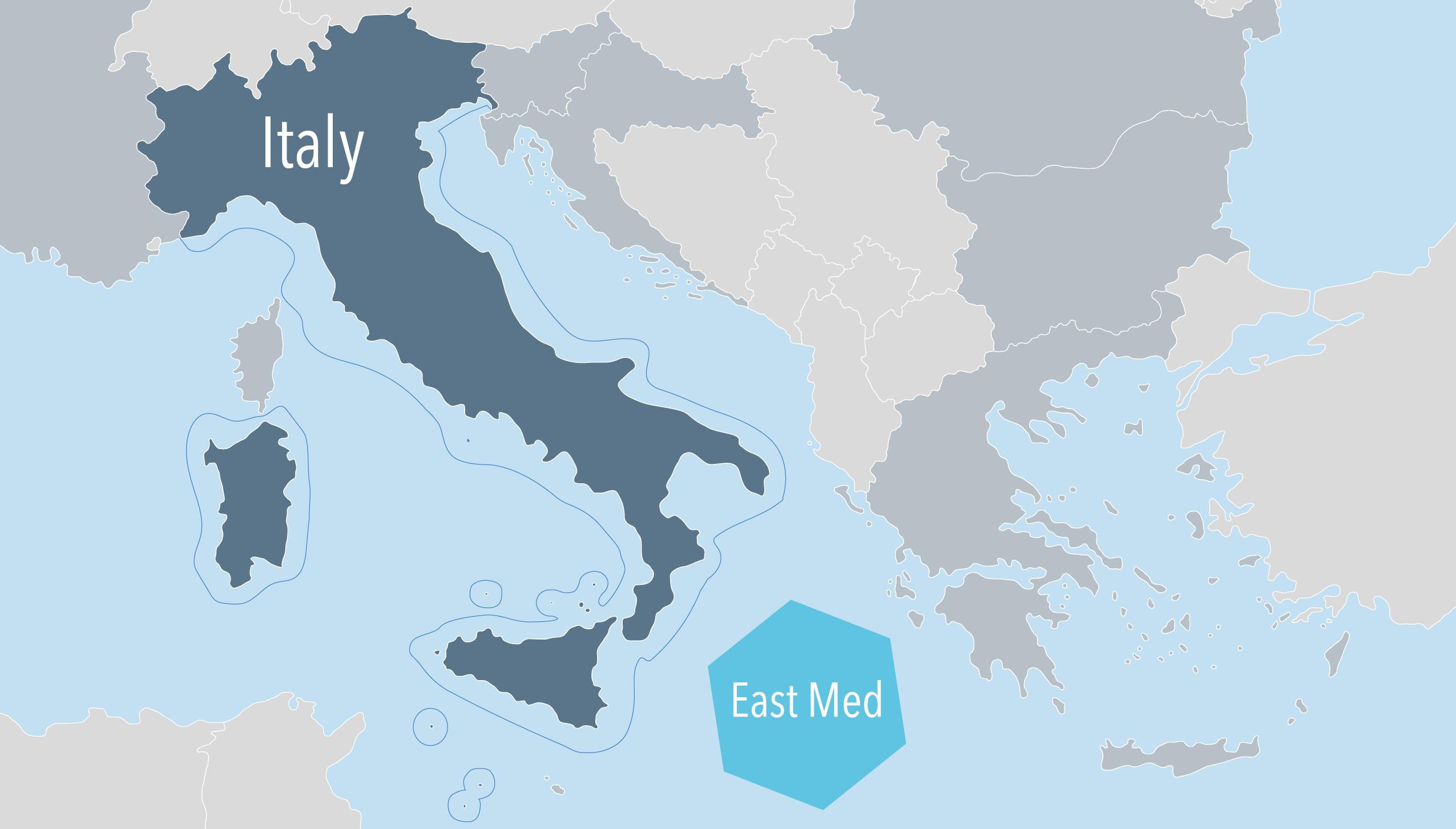 Basic Map Of Italy.Italy European Msp Platform
