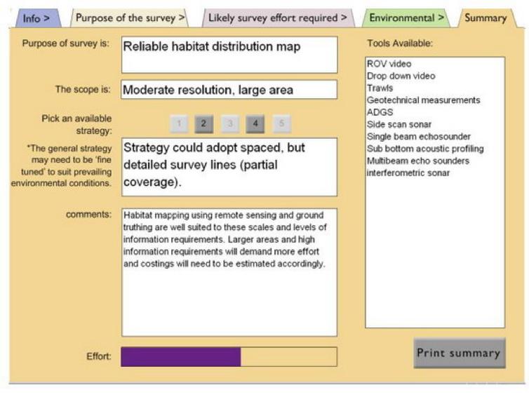 Figure 3: MESH Scoping Tool Summary