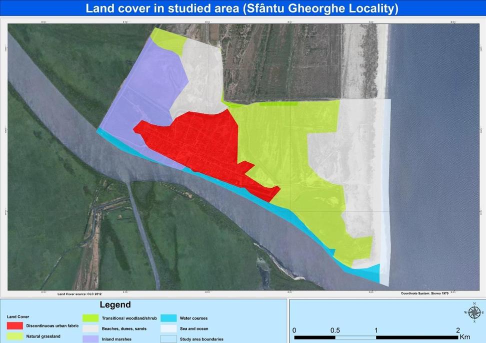 Fig. 3. Land cover in Sfântu Gheorghe case study. Source: MARSPLAN-BS Project, Case Study 2: Sfântu Gheorghe