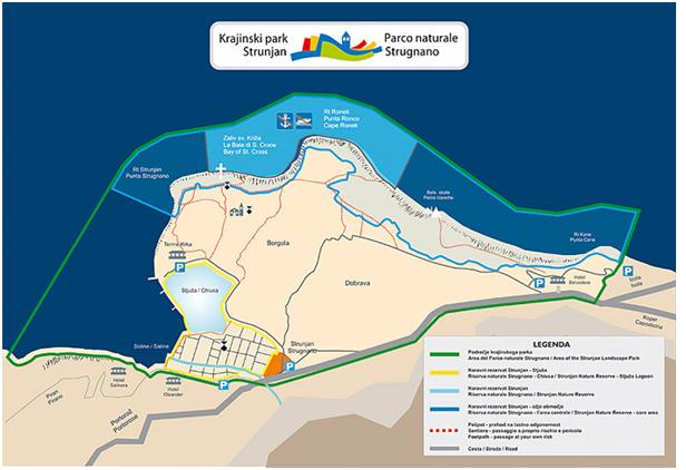 "Pilot plan area Shape report ""Technical basis for municipal spatial structure plan Strunjan\"""